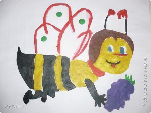 Аппликация: Пчёлка Майя фото 1