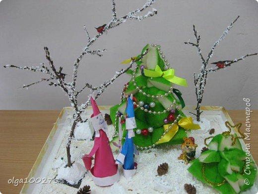 Снеговичок под елочкой фото 1
