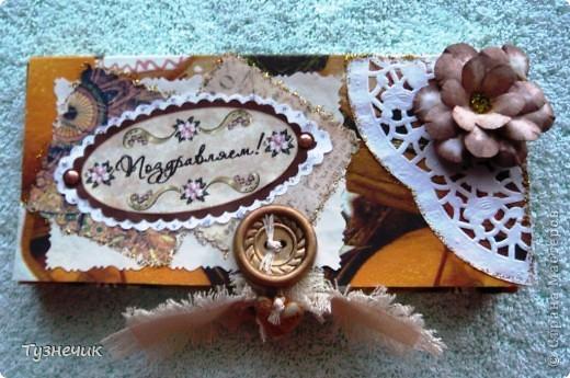 Очень люблю шоколад, и мне в обязательном задании как раз выпал Всемирный день шоколада...а так как я недавно занялась скрапбукингом и все посматривала на шоколадницы, то что иначе я могла бы сделать - конечно, шоколадницу... фото 1