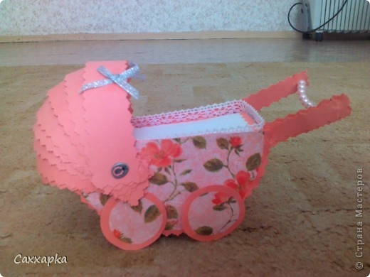 Вот сделала коляску на день младенцев (2 августа). фото 2
