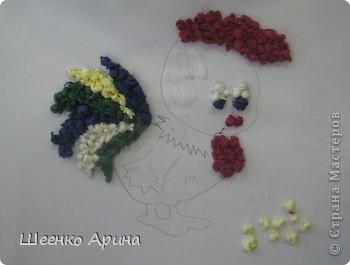 Вот такое панно из цветных салфеток можно сделать в качестве подарка для близкого человека. фото 4