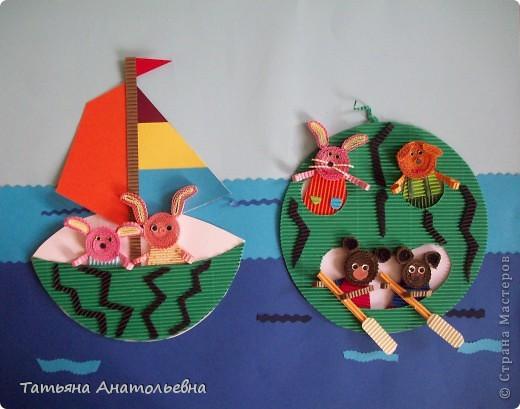 """Ребята из студии """"Журавлик"""" так представили себе тему дня арбуза. В жаркую погоду арбуз самый лучший водный транспорт. Арбузы ведь не тонут. фото 5"""