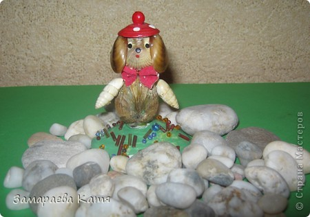 Вот такая морская собачка в красной шапочке получилась у меня. фото 1