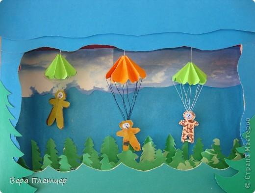 Ветер тучи разгонит, И будет небо чисто, Мы празднуем сегодня День парашютиста!  фото 1