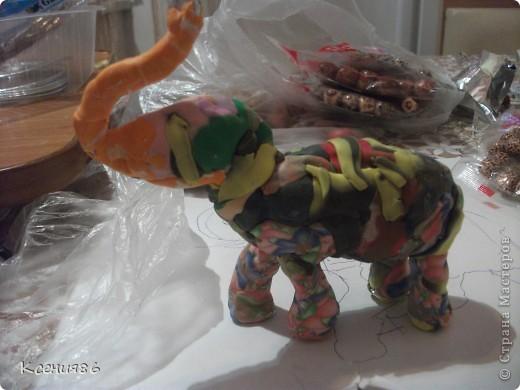 Мое увлечение-это полимерная глина и поэтому решила сделать вот такого индийского слона. Конечно же решила его нарядить)))) фото 7