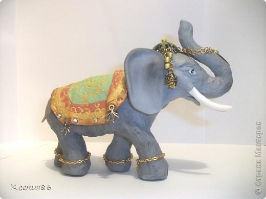 Мое увлечение-это полимерная глина и поэтому решила сделать вот такого индийского слона. Конечно же решила его нарядить)))) фото 1