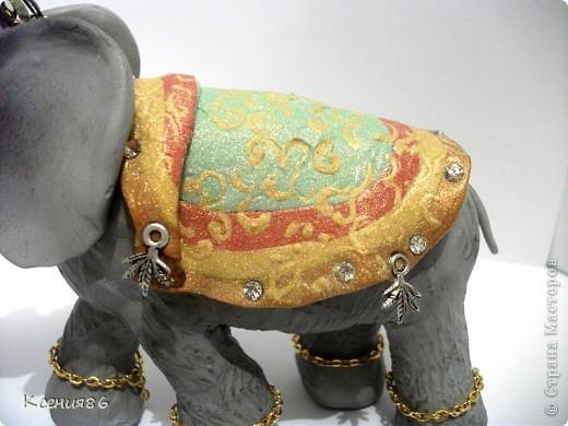 Мое увлечение-это полимерная глина и поэтому решила сделать вот такого индийского слона. Конечно же решила его нарядить)))) фото 3
