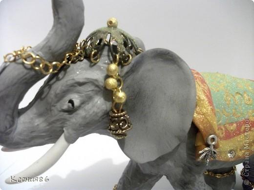 Мое увлечение-это полимерная глина и поэтому решила сделать вот такого индийского слона. Конечно же решила его нарядить)))) фото 4