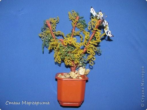 Моё осеннее дерево.Я хотела сделать дерево во время листопада.Надеюсь получилось. фото 1