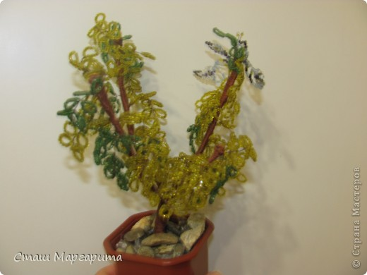 Моё осеннее дерево.Я хотела сделать дерево во время листопада.Надеюсь получилось. фото 3