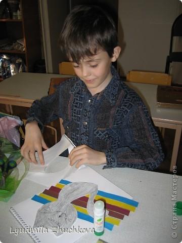 """""""Полосатое семейство"""". Вот такая работа появилась у нас с воспитанниками, когда я им предложила поучаствовать в конкурсе на день полосок. фото 4"""