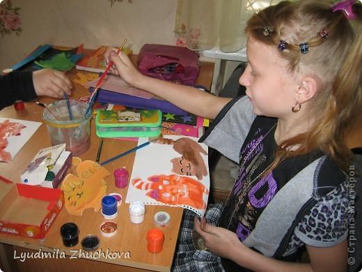 """""""Полосатое семейство"""". Вот такая работа появилась у нас с воспитанниками, когда я им предложила поучаствовать в конкурсе на день полосок. фото 5"""