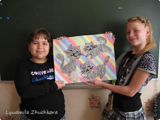 """""""Полосатое семейство"""". Вот такая работа появилась у нас с воспитанниками, когда я им предложила поучаствовать в конкурсе на день полосок. фото 6"""
