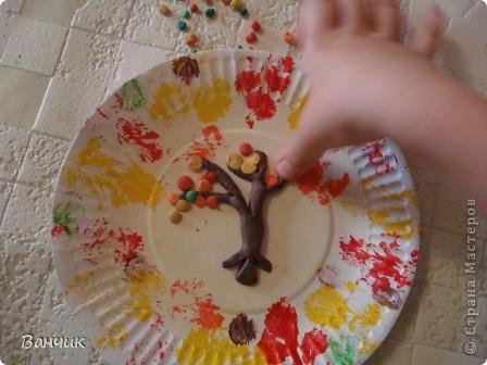 Мне достался день листопада, который приходится на 27 августа - день Михея-Тиховея. Я решил сделать осеннюю тарелочку. фото 7