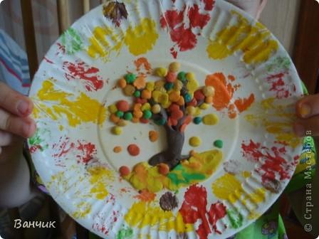 Мне достался день листопада, который приходится на 27 августа - день Михея-Тиховея. Я решил сделать осеннюю тарелочку. фото 8