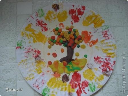Мне достался день листопада, который приходится на 27 августа - день Михея-Тиховея. Я решил сделать осеннюю тарелочку. фото 2
