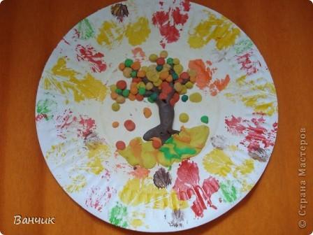 Мне достался день листопада, который приходится на 27 августа - день Михея-Тиховея. Я решил сделать осеннюю тарелочку. фото 1