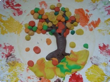 Мне достался день листопада, который приходится на 27 августа - день Михея-Тиховея. Я решил сделать осеннюю тарелочку. фото 9