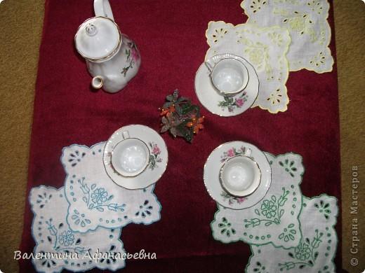 Салфетки для сервировки стола к чаю. фото 1
