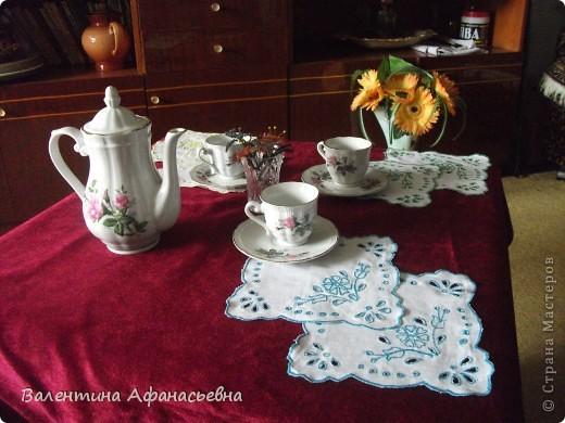 Салфетки для сервировки стола к чаю. фото 2
