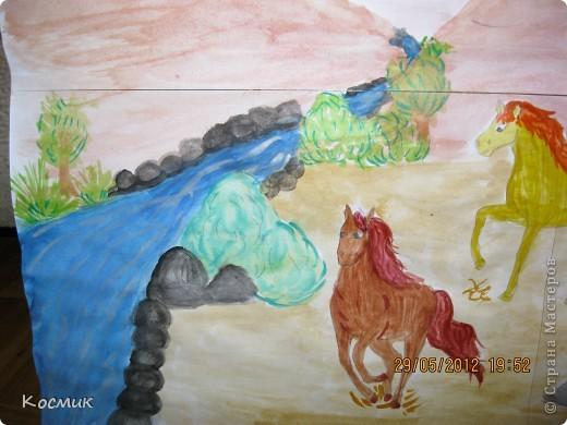 Мои лошадки бегут на водопой. фото 3