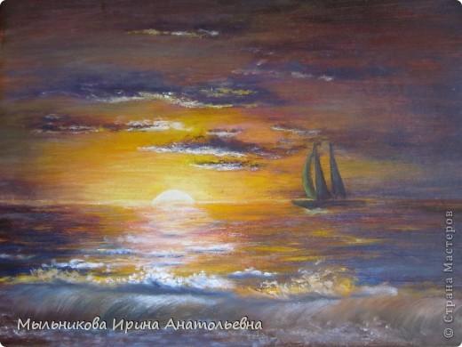 Закат на море, окончательный вариант фото 1