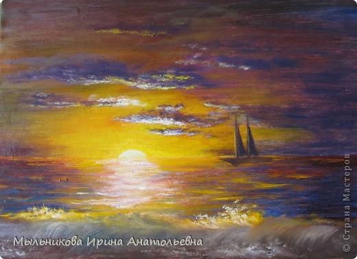 Закат на море, окончательный вариант фото 2