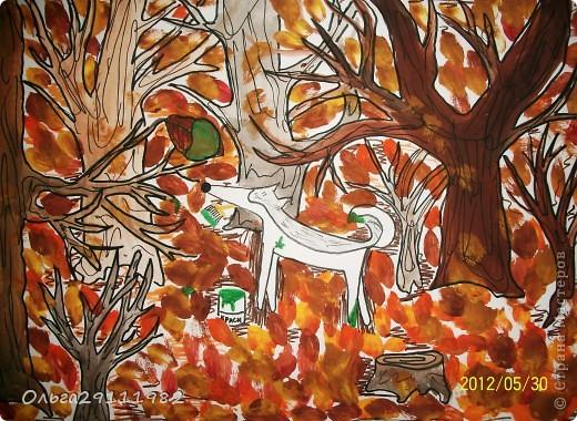 Лес, точно терем расписной, Лиловый, золотой, багряный, Весёлой, пёстрою стеной Стоит над светлою поляной...             И. Бунин