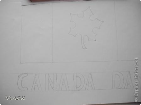 1 июля - День Канады. Я решила сделать флаг. фото 3