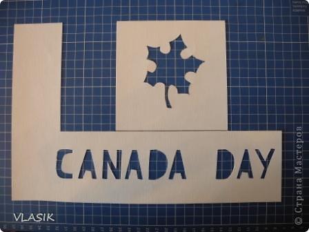 1 июля - День Канады. Я решила сделать флаг. фото 5