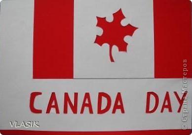 1 июля - День Канады. Я решила сделать флаг. фото 1