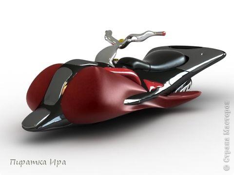 Это мой мотоцикл. Я сделала его в технике аппликации из пластилина. Я очень хотела, чтобы моя работа была яркой. фото 5
