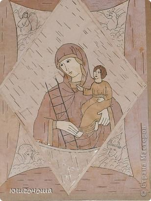 """Икона из бересты """"Неопалимая купина"""" фото 3"""