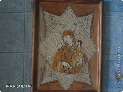 """Икона из бересты """"Неопалимая купина"""" фото 1"""