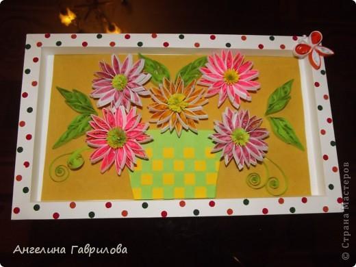 Это основной вид работы-Хризантемы в корзинке. фото 1