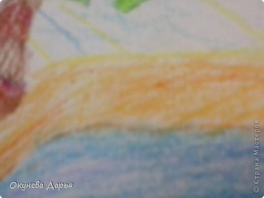 Вот такой рисунок я нарисовала ко дню водопада. фото 4