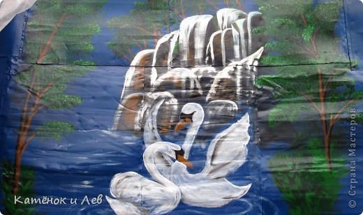 Мой водопад(на стене сарая) фото 5