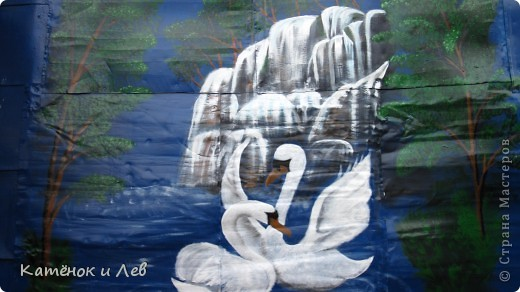 Мой водопад(на стене сарая) фото 1