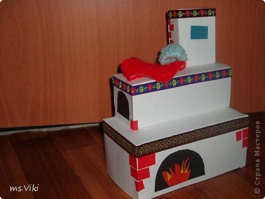 Печка из картона своими руками для детского сада 9