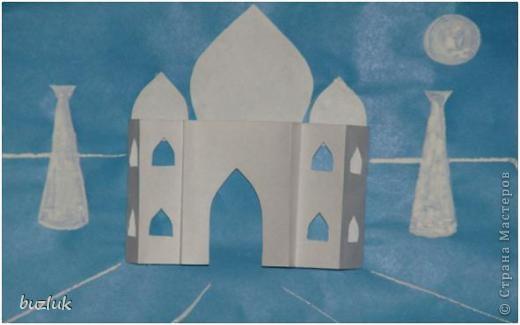 Тадж-Махал- символ Индии(полуобъемная аппликация). фото 1