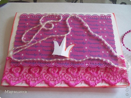 Каждая девочка мечтает стать принцессой. И я решила своей подружке в этот день подарить открыточку. фото 3