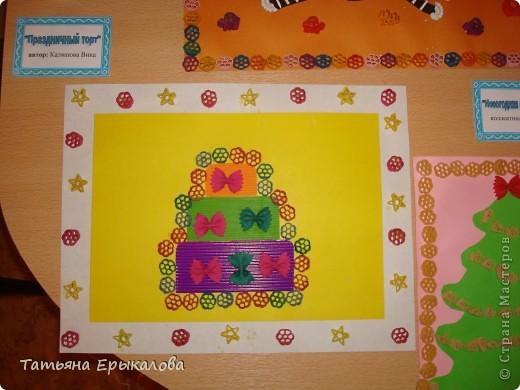 """Трехярустный праздничный тортик, созданный моей воспитанницей Викой из разноцветных макарон занял достойное место на нашей выставке """"Макаронная фантазия"""" фото 8"""