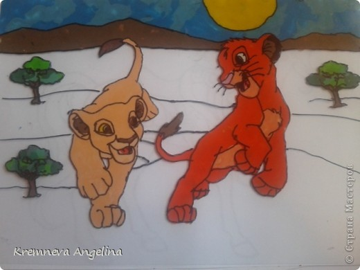 """Очень люблю мультик """"Король лев"""" поэтому решила сделать героев из этого мультика фото 8"""