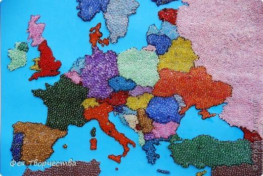 Мне выпал день туризма, я очень люблю путешествовать и ходить в походы! Я решила сделать карту Европы, и рассказать Вам о своём путешествии.  фото 1