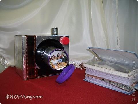 Коробка для тематических мини-альбомов.В эту декорированную коробку можно убрать альбомы с фотографиями экскурсий,торжест,походов, домашних животных ит.д. фото 1