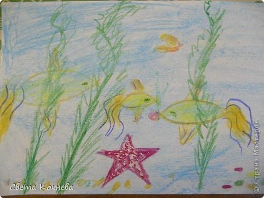 """""""Море, море - мир бездонный..."""" Так поётся в известной песне. Море всегда представляется синим и глубоким. Но очень хочется заглянуть в него и увидеть что же происходит на дне этого синего и глубокого моря, кто там живёт... А могут жить такие золотые рыбки,  красные звёзды и зелёные водоросли. А сколько разноцветных камней на дне? фото 1"""