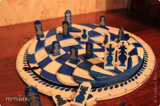 Выставляю свою конкурсную работу. Шахматы. Хотелось сделать что то необычное. Ну,  а как получилось судить вам!!!! фото 5
