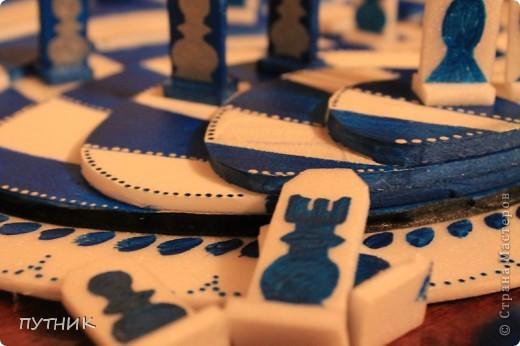 Выставляю свою конкурсную работу. Шахматы. Хотелось сделать что то необычное. Ну,  а как получилось судить вам!!!! фото 6