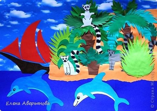 Мадагаска́р (туземн. Nosin Dambo — остров кабанов) — Мадагаскар — остров гвоздики, ванили и кофе; родина вымершей гигантской птицы эпиорнис — птицы Рух арабских сказок. Государство расположено на одноименном острове в юго-западной части Индийского океана и на мелких близлежащих островах Нуси-Бе, Сент-Мари и др. Мадагаскар является четвертым по величине островом Земли — 590 тыс. км.кв. (после Гренландии, Новой Гвинеи и Калимантана). Длина острова — около 1600 км, ширина — свыше 600 км, площадь — 587 040 км². На острове находится государство Мадагаскар (столица Антананариву). Наивысшей точкой острова является потухший вулкан Марумукутру (2876 м), который находится в горном массиве Царатанана, в северной части острова. Центральную часть острова занимает высокогорное плато Анджафи, полого спускающееся на запад и круто обрывающееся к низменностям восточного побережья. Пять горных цепей высотой до 2600 м, богаты минералами и металлами: золото, медь, железо; широкие прибрежные равнины болотисты, частью очень плодородны. Хотя Мадагаскар и находится недалеко от Африки, животный и растительный мир острова уникален — он содержит 5 % видов животных и растений мира, 80 % из которых существуют только на Мадагаскаре. Самыми известными из них являются лемуры, причем лемуров на Мадагаскаре 80 видов. Мадагаскар иногда называют «Великий Красный Остров». Красные почвы доминируют на всём центральном нагорье, однако в местах бывшей вулканической активности наблюдаются ещё более богатые минералами почвы. На всём протяжении восточного побережья, наблюдается тонкий «пояс» наносных почв, также как и в устьях западных рек. На западном побережье встречается глина, песок и известняк.  фото 1