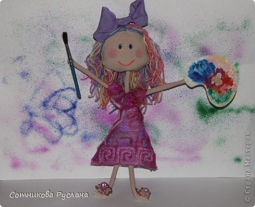 Уф..., успела...  Мне пришла идея совместить куклотерапию и цветотерапию... фото 1